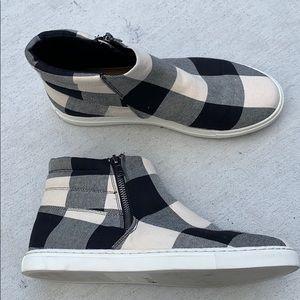 Splendid 8.5 Ultra Rare Gingham Booties Sneakers